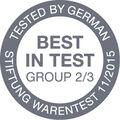 Award Stiftung Warentest 2015