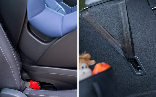 Easy installation with integrated ISOFIX and Top Tether