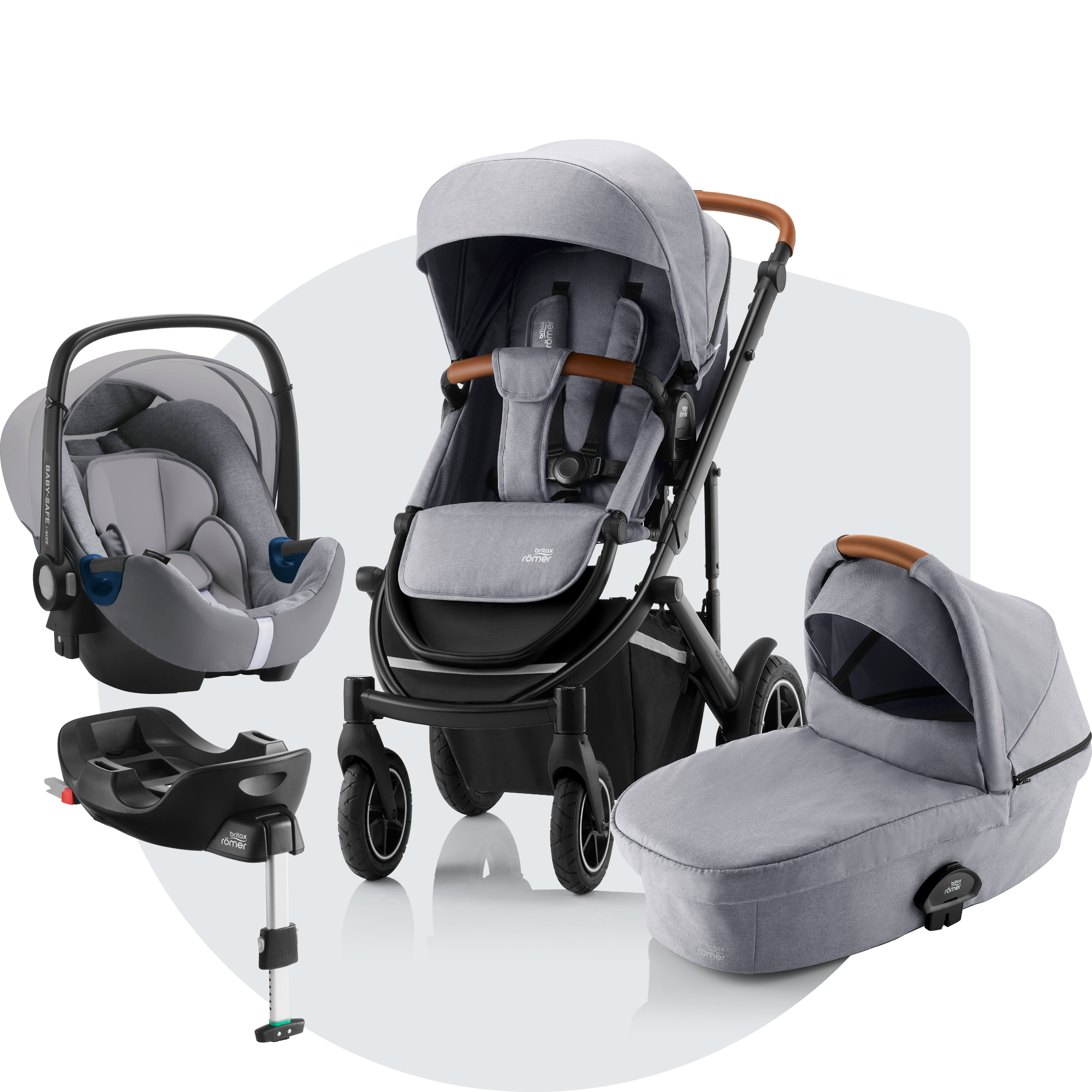 Silver Britax Smile Carrycot